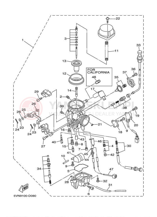 DIAPHRAGM Yamaha 4WM-1490H-00-00
